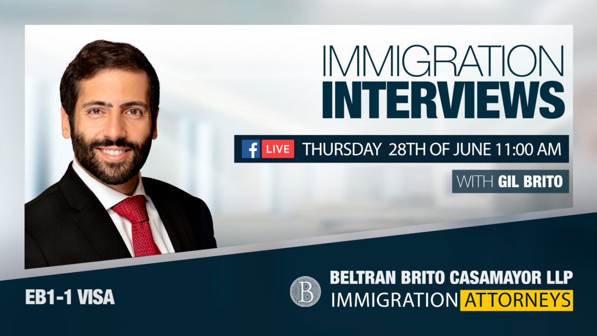 Facebook and Instagram Live – Immigration Interviews – Green Card