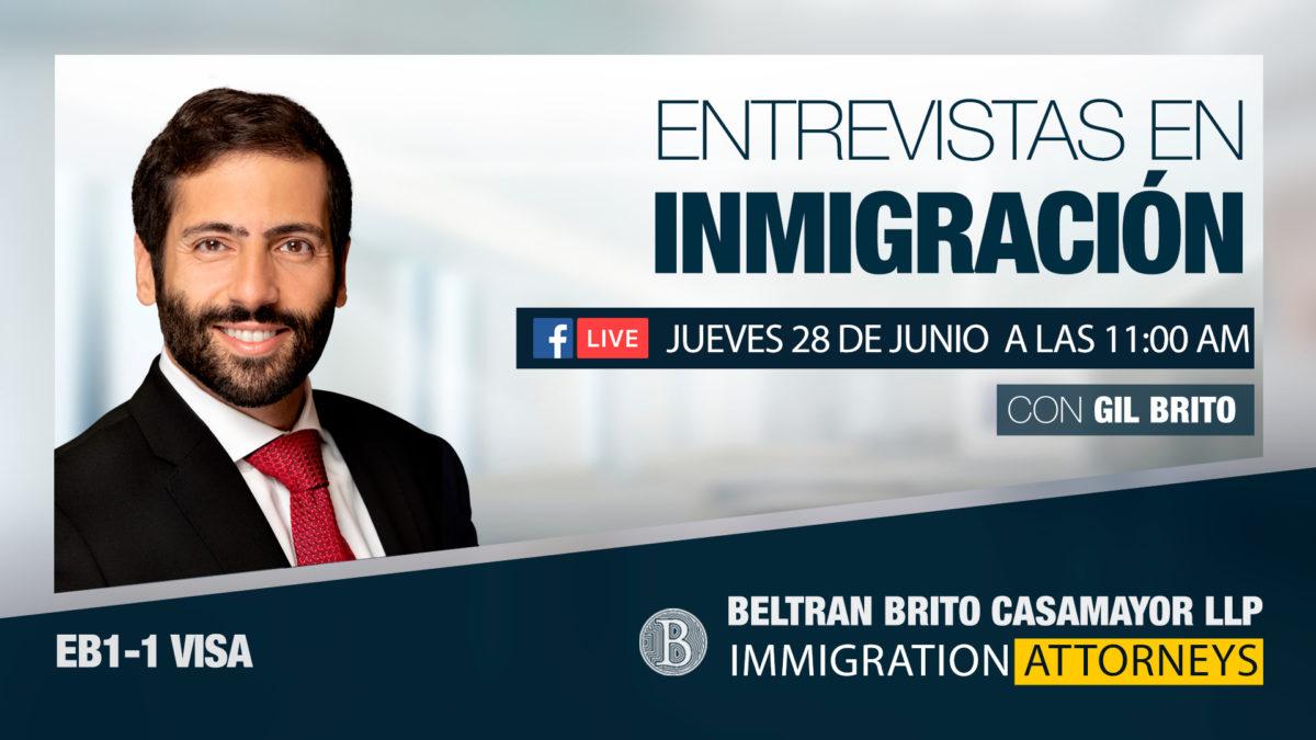 Facebook e Instagram Live: Entrevistas en Inmigración Green Card